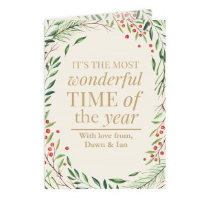 Personalised ?Wonderful Time of The Year? Christmas Card