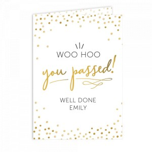 Personalised You Passed! Card
