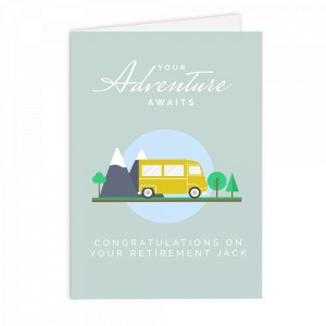 Personalised Leaving, Retirement, Adventure Card