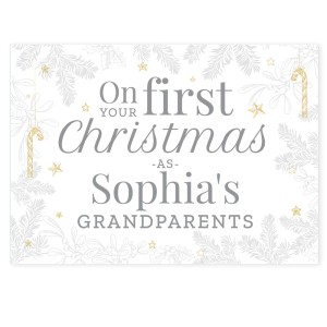 "Personalised ""On Your First Christmas As"" Card"