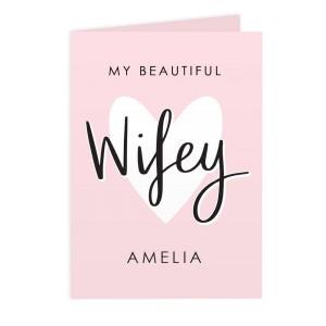 Personalised My Beautiful Wifey Card