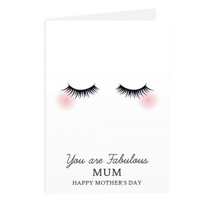 Personalised Eyelashes Card