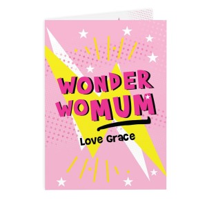 Personalised Wonder WoMum Card