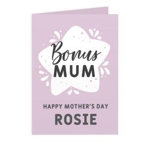 Personalised To My Bonus Mum Card