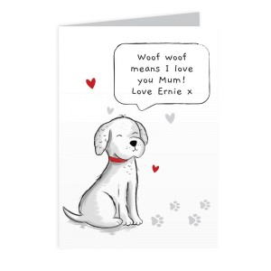 Personalised Dog Speech Bubble Card