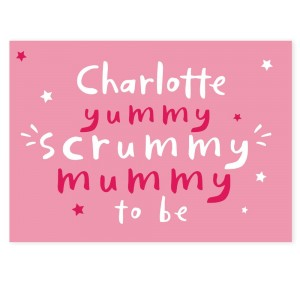 Personalised Yummy Scrummy Mummy To Be Card