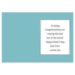 Personalised Well Done Dad... Card