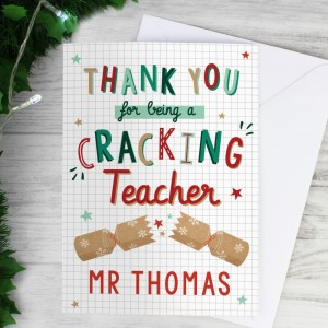 Personalised Cracking Teacher Card