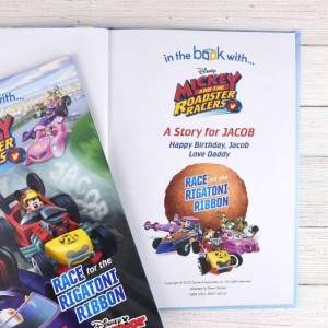 Personalised Disney Jr Mickey and the Roadster Racers Story Book - Softback