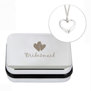 Bridesmaid Heart Necklace Box