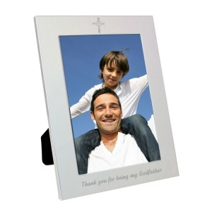 Silver 5x7 Godfather Photo Frame