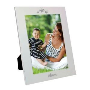 Silver 5x7 Mum Photo Frame
