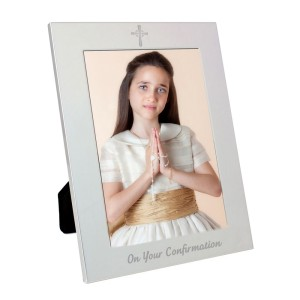 Silver 5x7 Confirmation Photo Frame