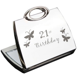 21st Butterfly Handbag Compact Mirror