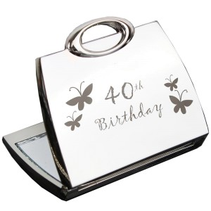 40th Butterfly Handbag Compact Mirror