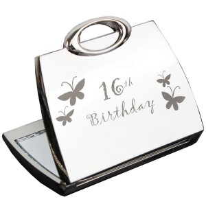 16th Butterfly Handbag Compact Mirror
