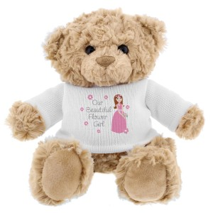 Fabulous Flower Girl Teddy Bear