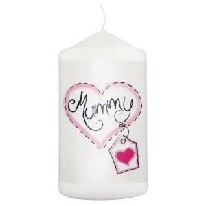 Mummy Heart Stitch Pillar Candle