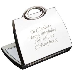 Personalised Handbag Compact Mirror