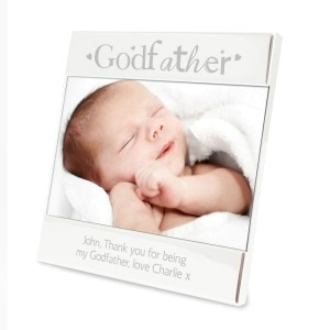 Personalised Silver Godfather Square 6x4 Photo Frame