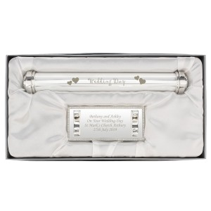 Personalised Wedding Day Silver Plated Certificate Holder