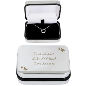 Personalised Butterfly Heart Necklace and Box