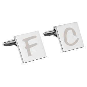 Personalised Square Cufflinks Initial