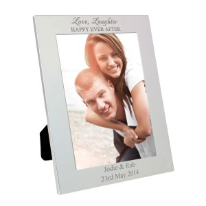 Personalised Silver 5x7 Happily Ever After Photo Frame