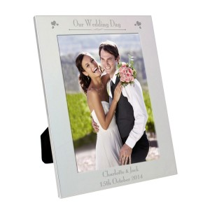 Personalised Silver 5x7 Decorative Our Wedding Day Photo Frame