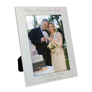 Personalised Silver 5x7 Decorative Mother & Father of the Bride Photo Frame