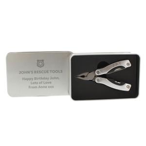 Personalised Shield Motif Stainless Steel Multifunctional Pliers