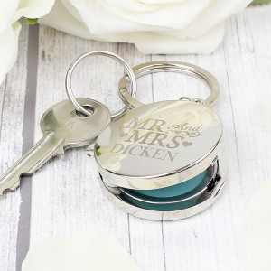 Personalised Mr and Mrs Photo Keyring