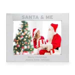Personalised Santa & Me 7x5 Landscape Photo Frame