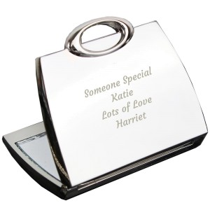 Personalised Any Message Handbag Compact Mirror