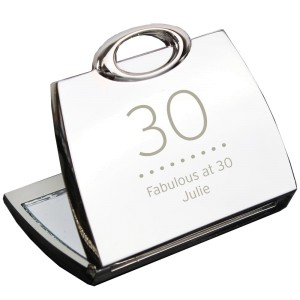Personalised Birthday Big Age Handbag Compact Mirror