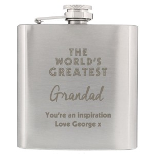 "Personalised ""The World's Greatest"" Hip Flask"