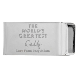 """Personalised """"World's Greatest"""" Money Clip"""