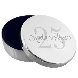 Personalised Birthday Big Age Round Trinket Box