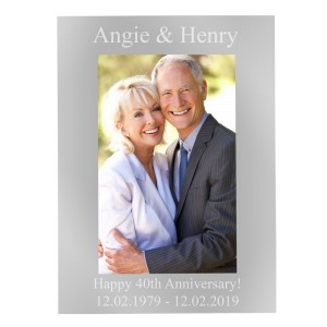 Personalised 6x4 Silver Photo Frame