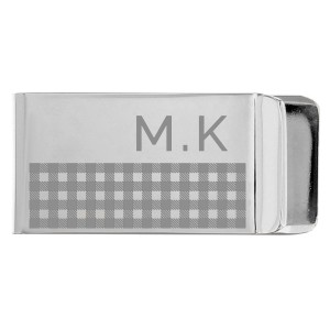 Personalised Hatched Money Clip