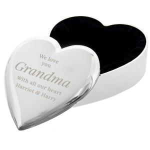 Personalised Free Text Heart Trinket Box