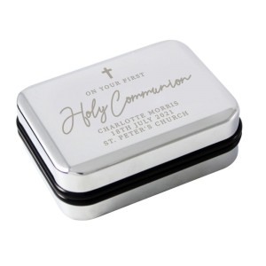 Personalised First Holy Communion Necklace Box