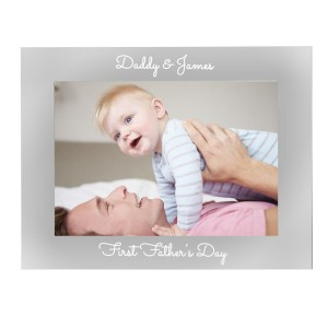 Personalised Free Text 5 x 7 Silver Photo Frame