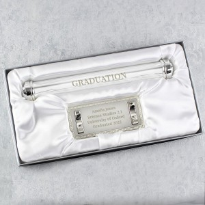 Personalised Free Text Silver Plated Certificate Holder
