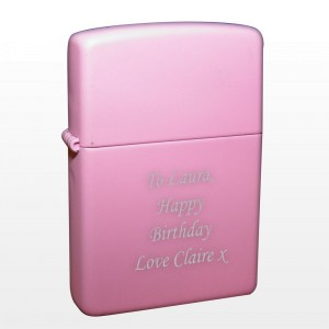 Personalised Pink Lighter