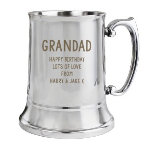 Personalised Free Text Stainless Steel Tankard