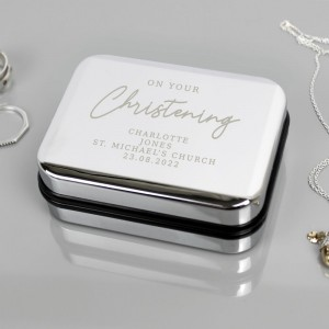 Personalised Christening Necklace Box