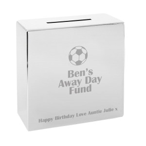 Personalised Football Square Money Box