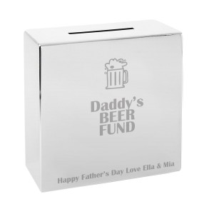 Personalised Beer Square Money Box