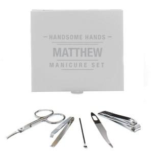 Personalised Handsome Hands Manicure Set